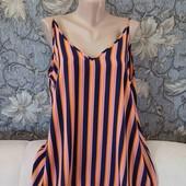 Новая, красивая, в яркую полоску блуза, Papaya, p. XL