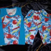 Супер!!! Классный летний костюм на мальчика 3-4г.