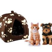 Портативный мягкий домик для собак и котов с подушкой Pet Hut