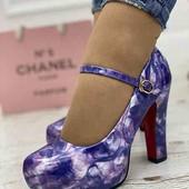 Стильные женские туфельки фиолетовые