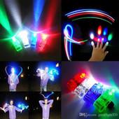 Создай настроение-световое шоу!Светящийся лазерный свет-минифонарики на пальцы\4шт-упаковка\