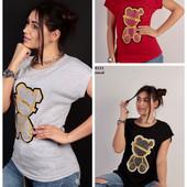 Стильные футболки, стразы. Турция.