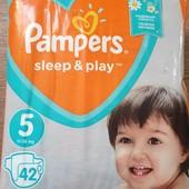 Укрпочта бесплатно! Подгузники детские Pampers размер 5, 42 шт