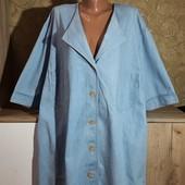 Собираем лоты!!! Джинсовая рубашка на пышную красу, размер xxl-xxxxl