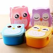 Ланч бокс Сова Lunch Box Совушка, контейнер для еды детский