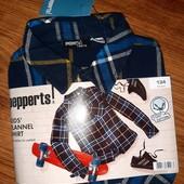Фланелевая рубашка Pepperts Германия, 134см / 8-9лет. В упаковке!