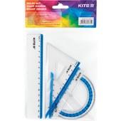 Набір лінійка 15 см, 2 кос., трансп. Торговая марка Kite. В лоті 1 упаковка на вибір