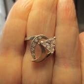 Распродажа!Шикарное серебряное кольцо- серебро 925пр.+золото 375 пр.Новое с биркой!