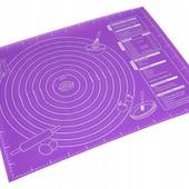 Коврик силиконовый для раскатки теста, 60х45 см