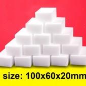 Меламиновые губки 10 шт (10*6*2) см. Микс белые и серые