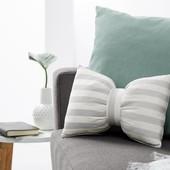 *Лот 2 шт!* Набор декоративных полосатых подушек с завязками от Tcm Tchibo, Германия