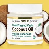 Органическое кокосовое масло холодного отжима,нерафинированное 473 г