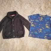 Кофта и футболка на 2-3 года