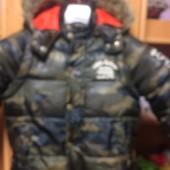 Куртка, еврозима, жилет, внутри флис, 4 года 104 см. La redoute. состояние отличное