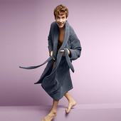 ☘ Добротний махровий халат, унісекс, Tchibo (Німеччина), розмір наш: 56-60 (ХL євро), нюанс