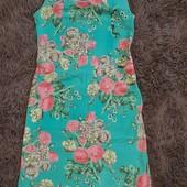 Хлопковое платье -футляр, мягенькое, жатка, не секонд. 42 р