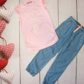 Крутезные летние джогеры H&M 4-6л и нежная футболочка,, качество бомба!