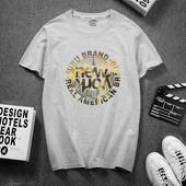 Стильная мужская хлопковая футболка с принтом