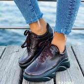 Якисні туфлі костаня пара.новинка.