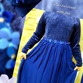 Нарядное платье с оригинальным декором от Monsoon на 10-11 лет