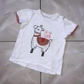 Стоп❤ Фирменная коттоновая стильная футболочка для девочки,2 года❤ Много лотов!