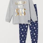 Старт=блиц!Пижамка H&M для сестры 2-4 года ,рост 98/104см