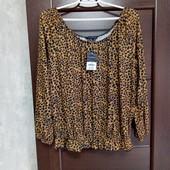 Всё по 100! Фирменная новая красивая трикотажная блуза р.12-14.