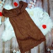 Гипюровое платье с рюшами Only, размер 38