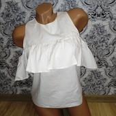 Нарядная белая блуза с рюшами (волан) Atmosphere размер 36