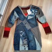 Нове плаття із джинсовими вставками, 10% знижка на УП