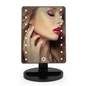 Зеркало с подсветкой прямоугольное для макияжа 16 led