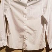 белоснежная рубашка  на мальчика 11-12л