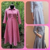 Шикарные платья в клетку 40-42(s). Качество бомба