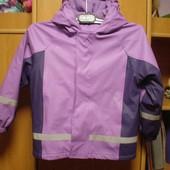 Куртка, непромокайка, внутри флис, размер 8 лет 128 см. Kids, сост. о