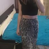Стильная юбка с высокой посадкой в пол Divided by H&M 36/xs, s