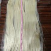 Термо волосы на заколках. Блонд 613.