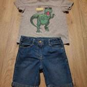 Джинсовые шорты и футболка одним лотом