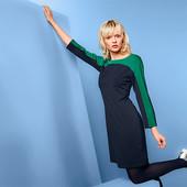 Элегантное платье из плотной джерси ткани с контрастными вставками от Tchibo(германия) размер 36 евр
