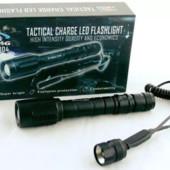фонарь Bailong +2 батарейки. с зумом