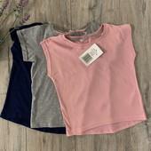 Три футболки для девочки 5-6 лет. Новые.