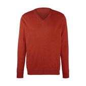⚙ Якісний темно-оранжевий светр-пуловер, 100% шерсть, Tchibo (Німеччина), р .: 50, див. заміри