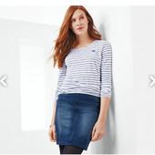 Стильная джинсовая юбка, плотная ткань Tchibo германия, размер 36 евро=42-44