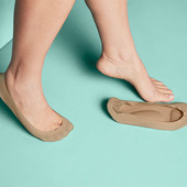 ☘ Лот 1 пара☘ Капронові шкарпетки-невидимки з вбудованою устілкою Tchibo (Німеччина), р. 35-38