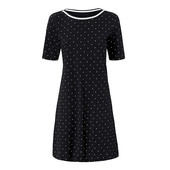 ☘ Шикарне плаття з органічної бавовни в горошок від Tchibo (Німеччина), р.: 54-56 (48/50 евро)