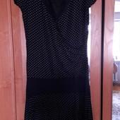 Платье в горошек р.10 (44)сост.отл.см замеры