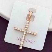 Крестик Xuping позолота 18к. Много лотов