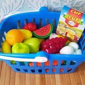"""Детский игровой набор «Фрукты в корзине»   корзинка """"cупермаркет"""" Orion   Детский набор в корзинке  """