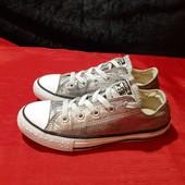 Серебристые кеды Converse, ориг. Вьетнам, разм. 33 (20 см по бирке, реально 21,5 см внутри).
