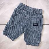 Стоп , стильные❤ Фирменные джинсовые шорты для мальчика в полоску,3-6 мес❤ Много лотов!