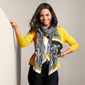 ☘ Тканий шарф від Tchibo (Німеччина), р. 200 х 90 см